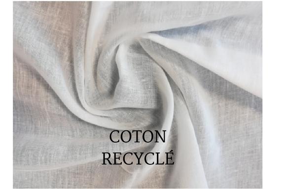 Coton recyclé slider page d'accueil