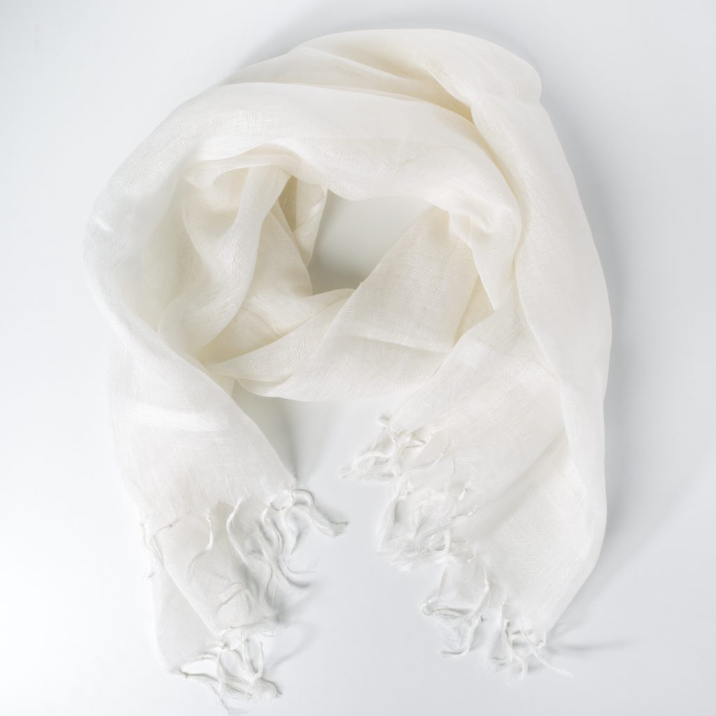 Étole « Aman I » – 100% lin tissage artisanal