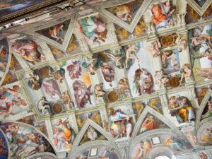 Fresque Chapelle Sixtine Michel-Ange