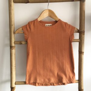 Tshirt fille manches courtes orange